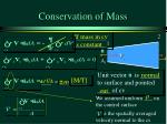 conservation of mass4