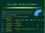 example reducing elbow