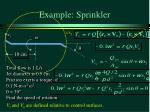 example sprinkler