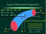 linear momentum equation11