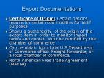 export documentations19