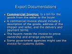 export documentations20