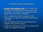 export documentations23