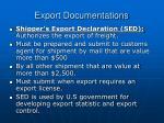export documentations26