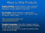 ways to ship products