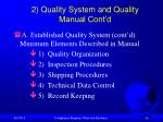 2 quality system and quality manual cont d