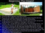 beginning the dream