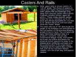 casters and rails