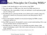 basic principles for creating wbss