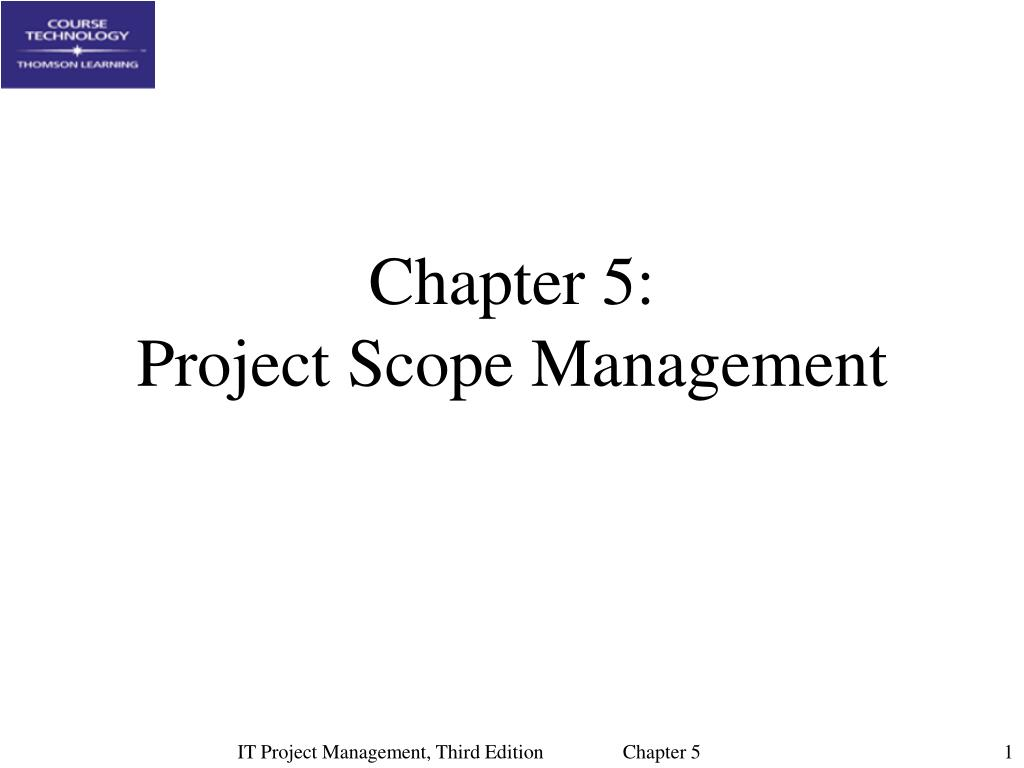 chapter 5 project scope management l.