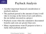 payback analysis