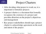project charters