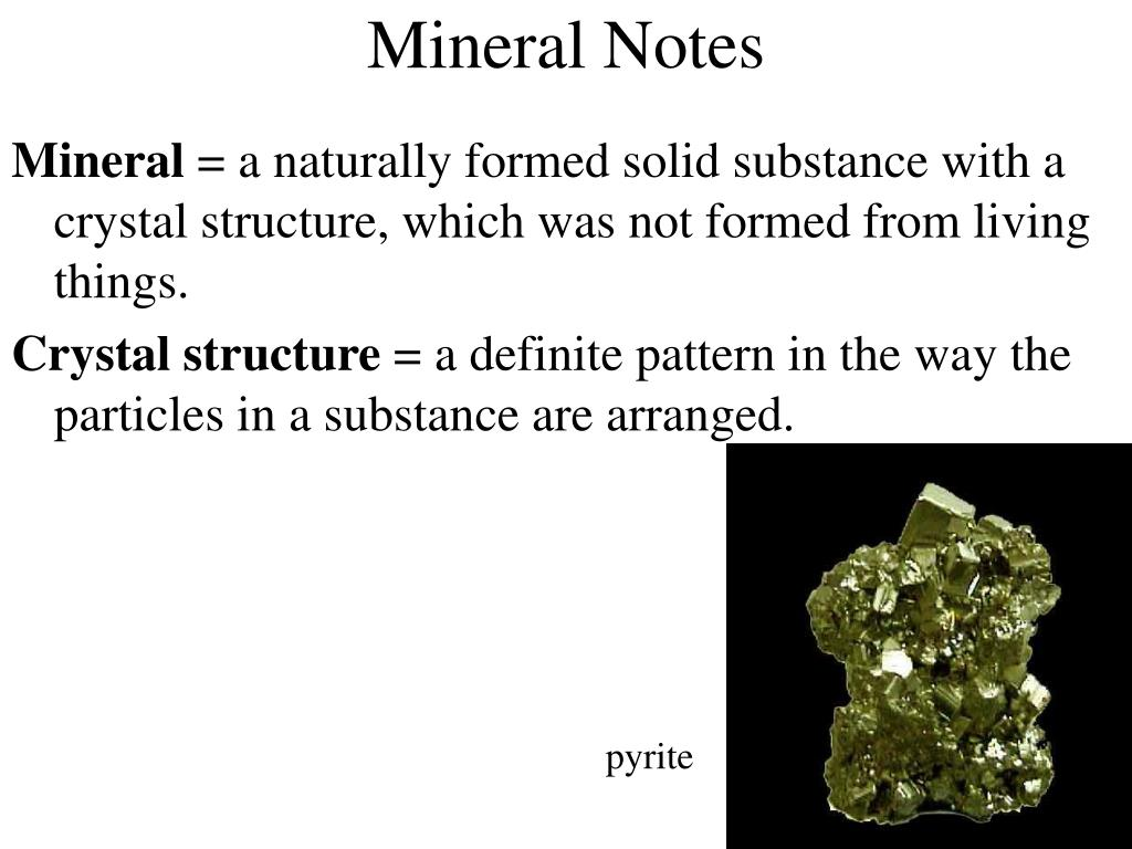 mineral notes l.