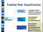 familial risk classification20
