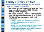 family history of cvd