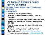 us surgeon general s family history initiative