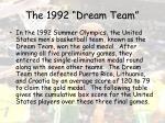 the 1992 dream team