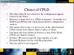 choice of cpld