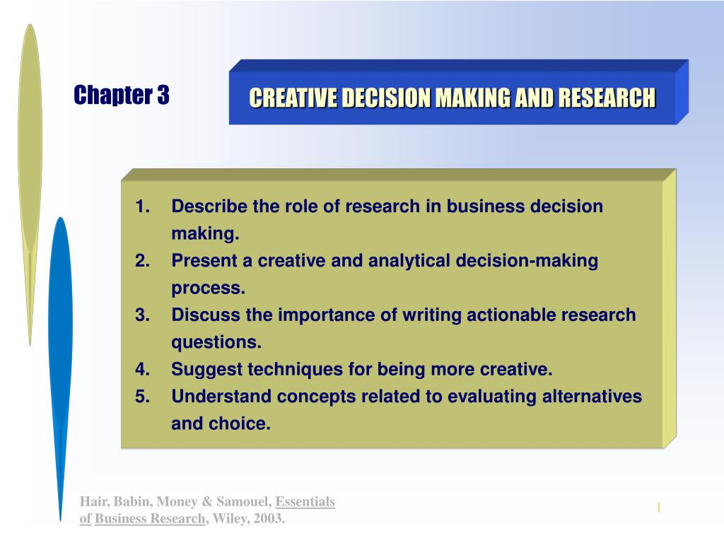 creative decision making and research l.