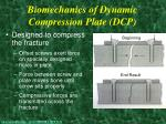biomechanics of dynamic compression plate dcp