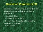 mechanical properties of im