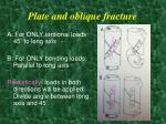 plate and oblique fracture