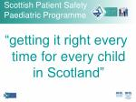 scottish patient safety paediatric programme23