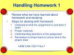 handling homework 1