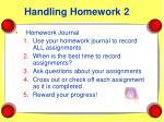 handling homework 2
