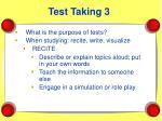 test taking 3