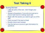 test taking 6