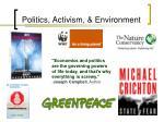 politics activism environment