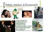 politics activism environment5
