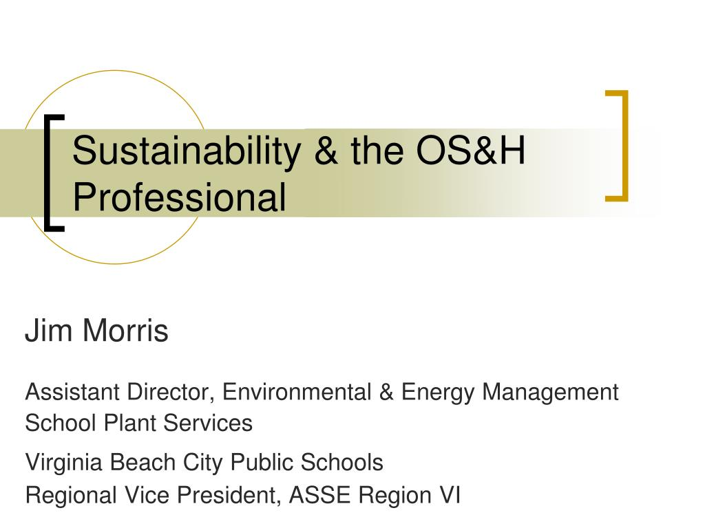 sustainability the os h professional l.