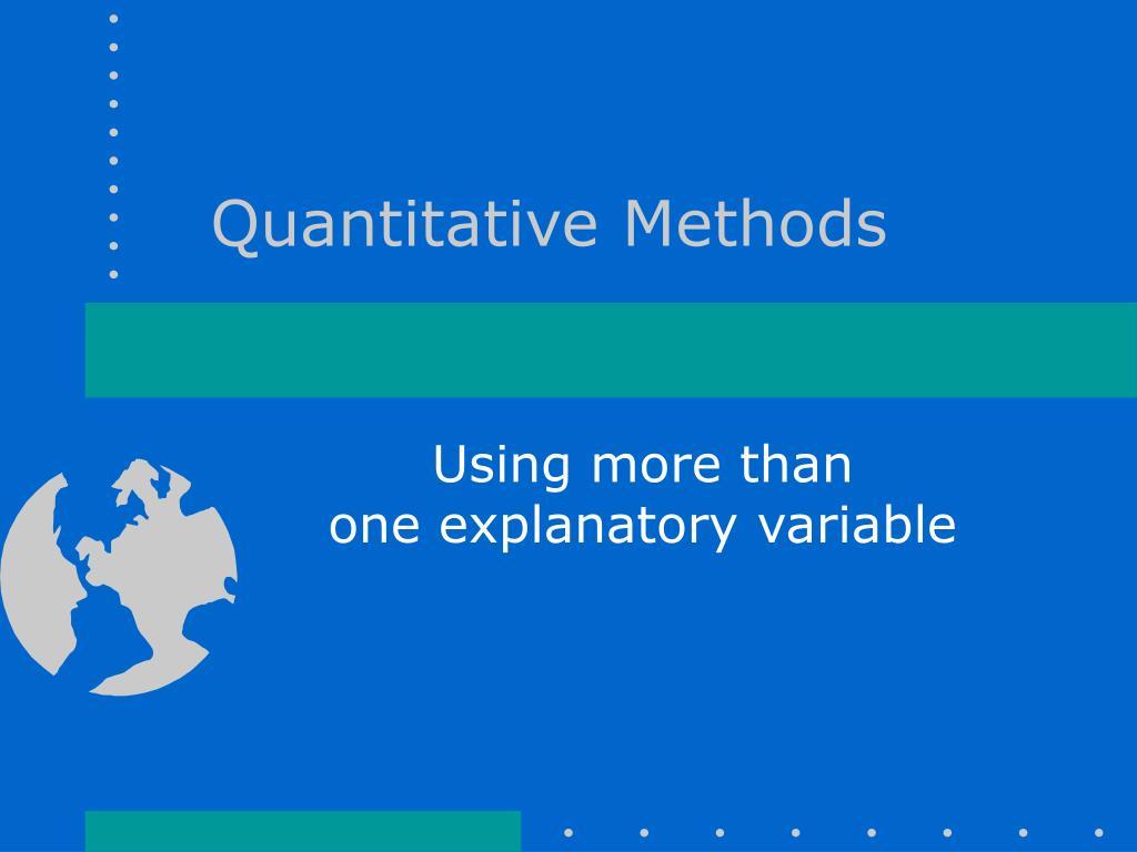 quantitative methods l.