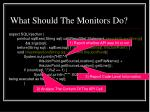 what should the monitors do41