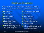 employee fraudsters