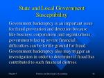 state and local government susceptibility