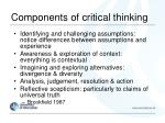 components of critical thinking