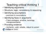 teaching critical thinking 1