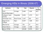 emerging hsis in illinois 2006 07