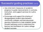successful guiding practices con d