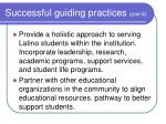 successful guiding practices con d21