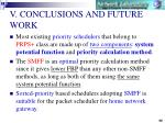 v conclusions and future work