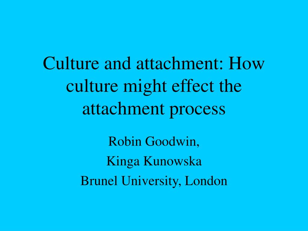 culture and attachment how culture might effect the attachment process l.
