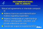 recommendations ems planners10