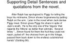 supporting detail sentences and quotations from the novel