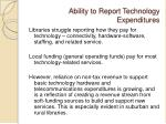 ability to report technology expenditures
