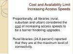 cost and availability limit increasing access speeds