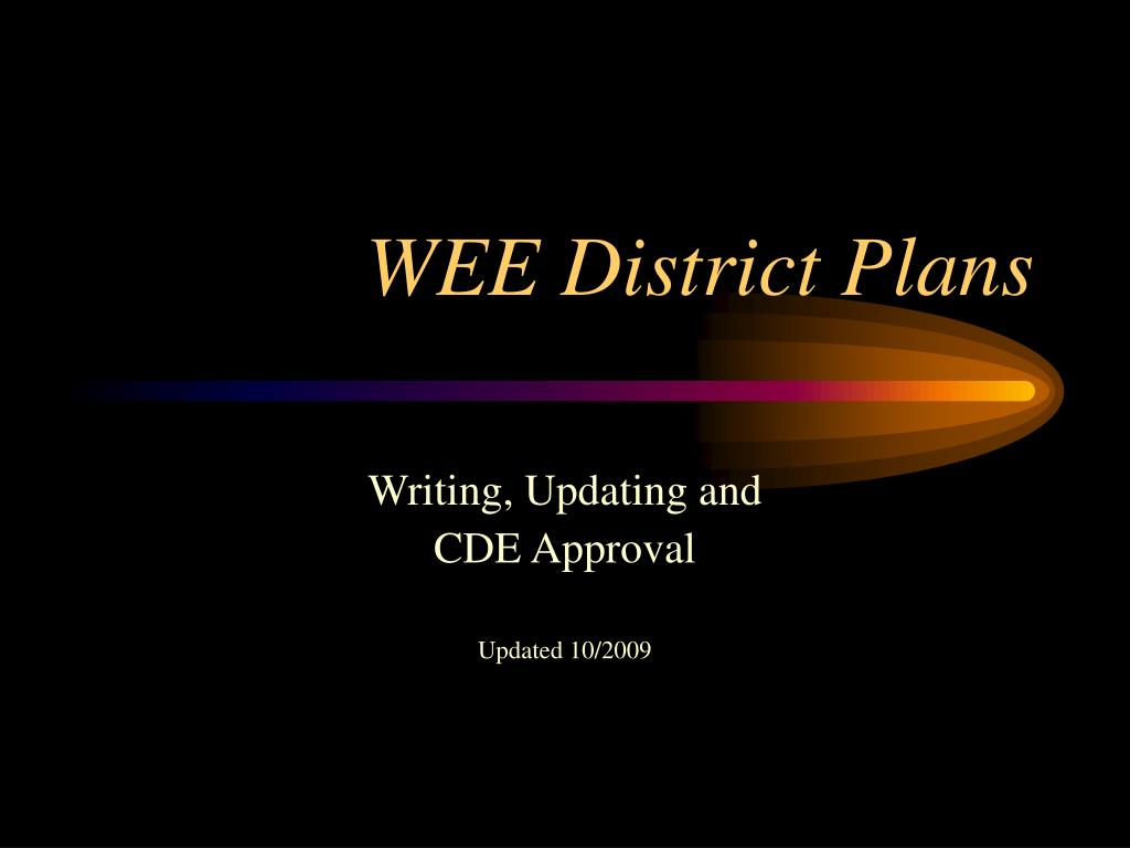 wee district plans l.